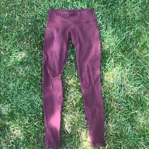 Maroon Cotton Lululemon Leggings